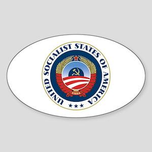 USSA [seal] Sticker (Oval)